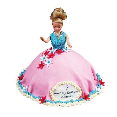 Tort na urodziny dziewczynki lalka barbie Cukiernia Tadek