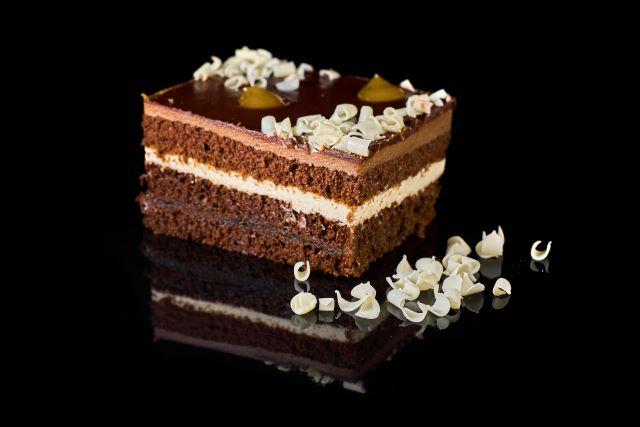 Ciasto czekoladowo-biszkoptowe Maracuja