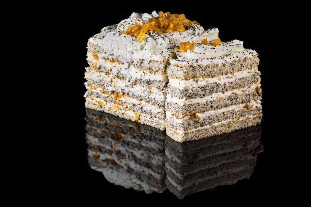Ciasto biszkoptowo-makowe Morelka