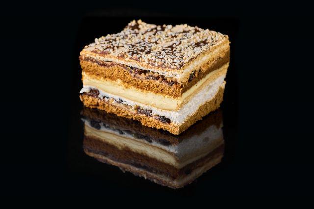 Pani Walewska - kruche ciasto z budyniem
