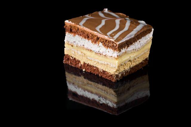 Margeritta - budyniowe ciasto biszkoptowe